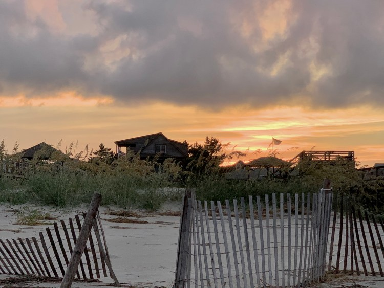 Sundown with clouds, North End, Pawleys Island SC
