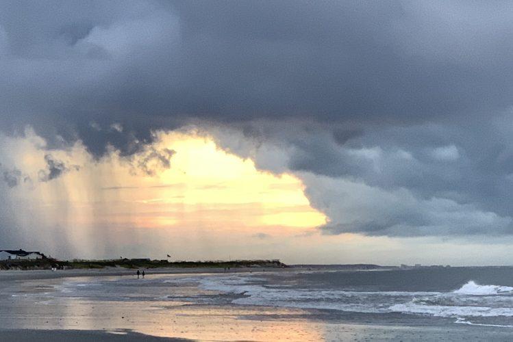 Rain at sunrise, Pawleys Island, SC