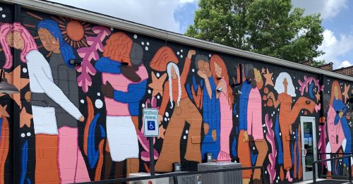 Walls for Women mural by Paris Woodhull, Knoxville TN