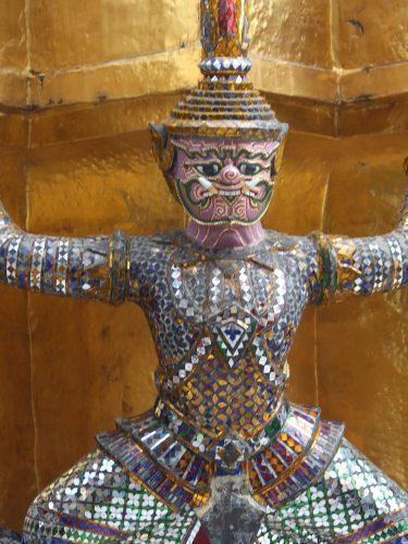 Temple figure, Bangkok, Thailand