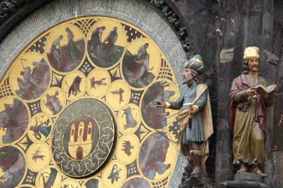 Saints beside the Astronomical Clock, Prague