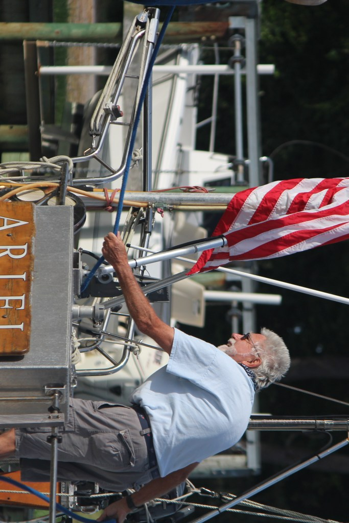 Owner of Ariel, a boat in Onancock Creek, VA