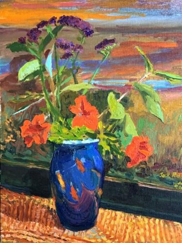 Floral art by Jack Richardson, Onancock VA