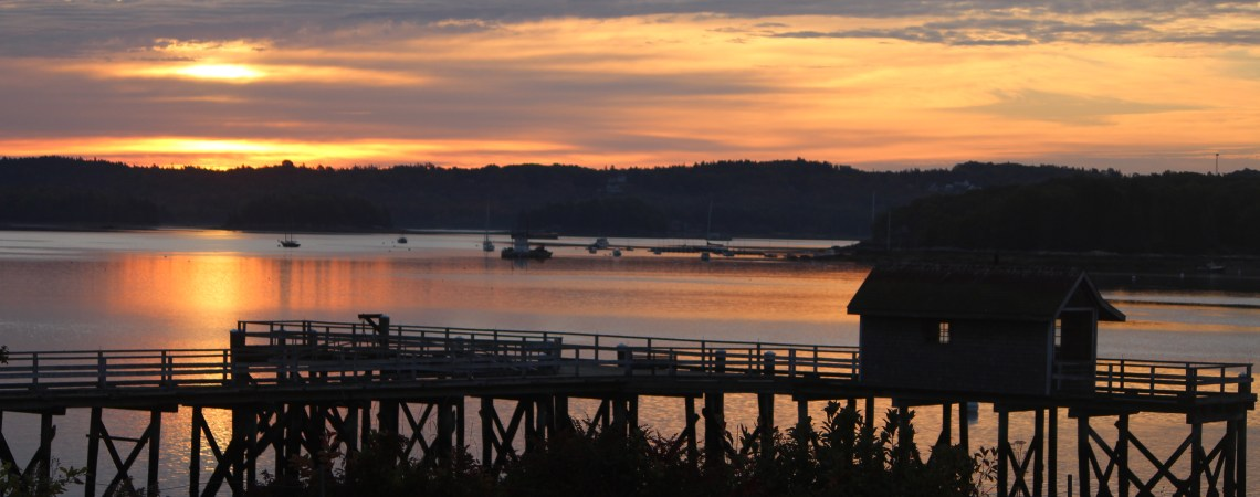 Sunrise in the town of Castine Maine