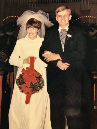 Our wedding portrait, Dec. 27, 1967