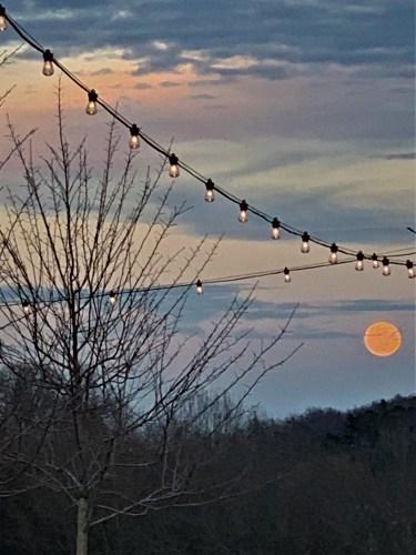 Cold Moon, Lakeshore Park, Knoxville TN Dec. 30, 2020