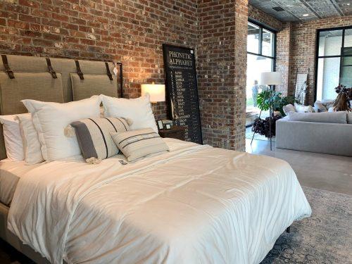 Bedroom setting, Magnolia Home, Waco, TX, Joanna Gaines
