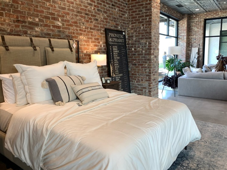 Bedroom setting, Magnolia Home, Waco, TX, Joanna Gaines