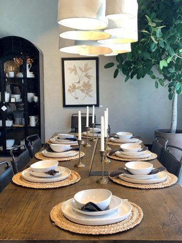 Table setting: Magnolia Home, Waco TX, Joanna Gaines