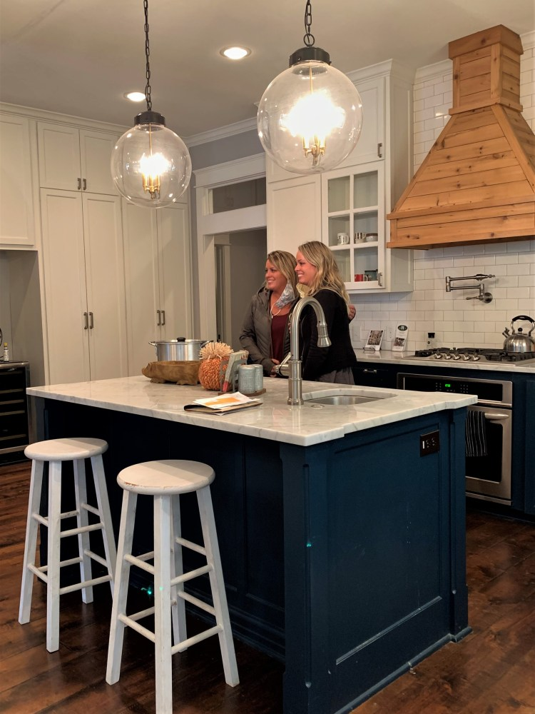 Touring kitchen in Fixer Upper house, Waco, TX