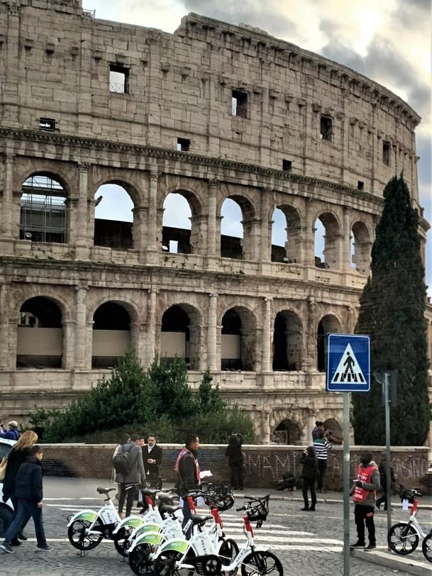 Rome -- Colisseum with locals