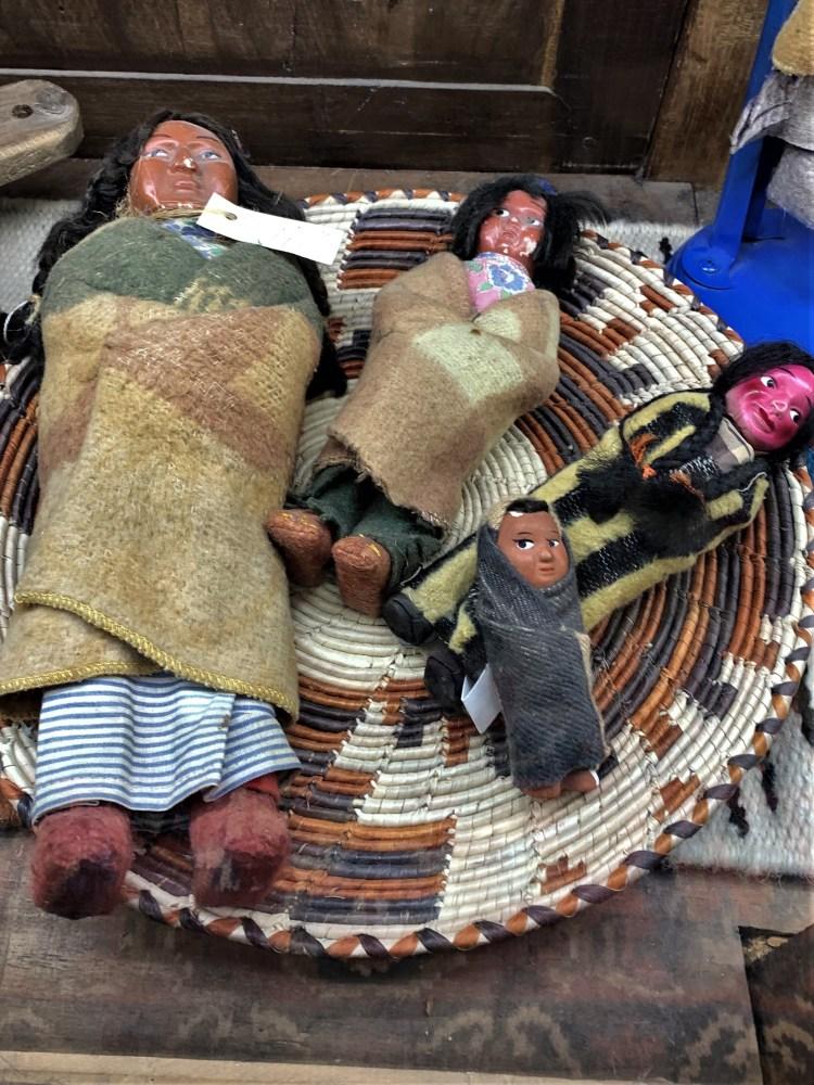 Indian dolls, Cross-Eyed Moose, Ft. Worth Stockyards