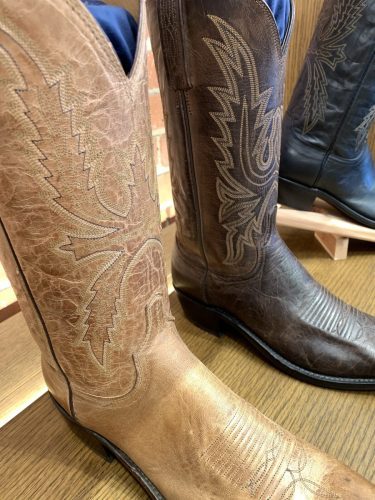 Cowboy boots, Lucchese at Ft. Worth Stockyards
