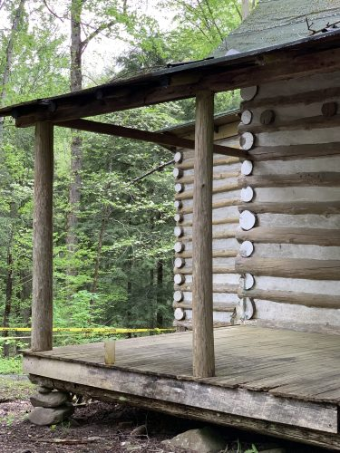 Cabin porch at Elkmont, Great Smoky Mtns.