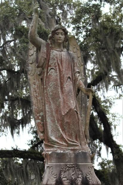 Tall angel in Bonaventure Cemetery