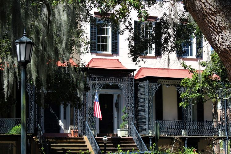 Savannah - home with grillwork and canopies