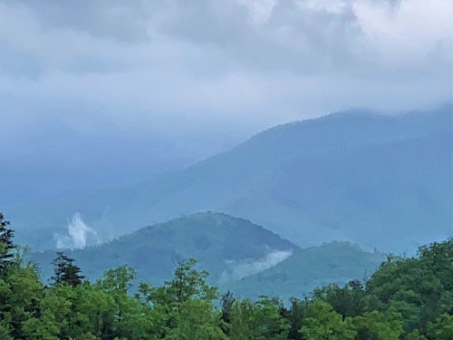 Smoke in the Great Smoky Mountains