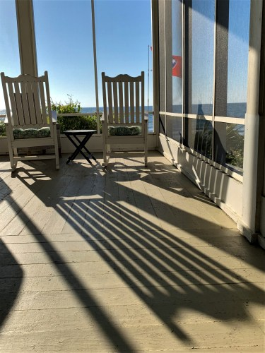 Morning shadows at Pawleys Island beach house
