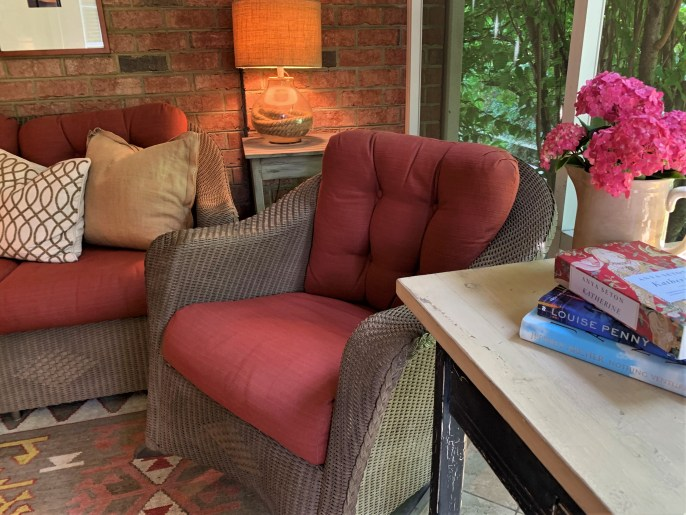Screened-in porch at home