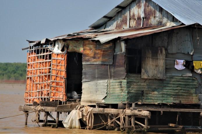 Home along the Mekong River, Cambodia