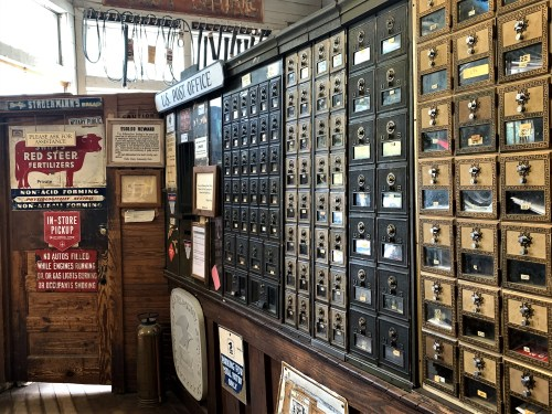 Mailboxes inside Mast General Store