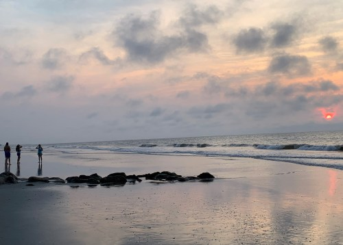 Beach people, Pawleys Island, SC