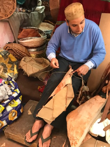 Leather craftsman, Marrakech, Morocco
