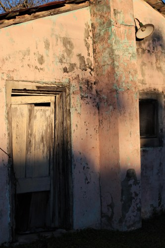 Apalachicola FL: old building at sundown