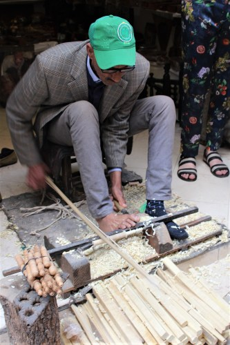 Woodturner with Feet, Morocco