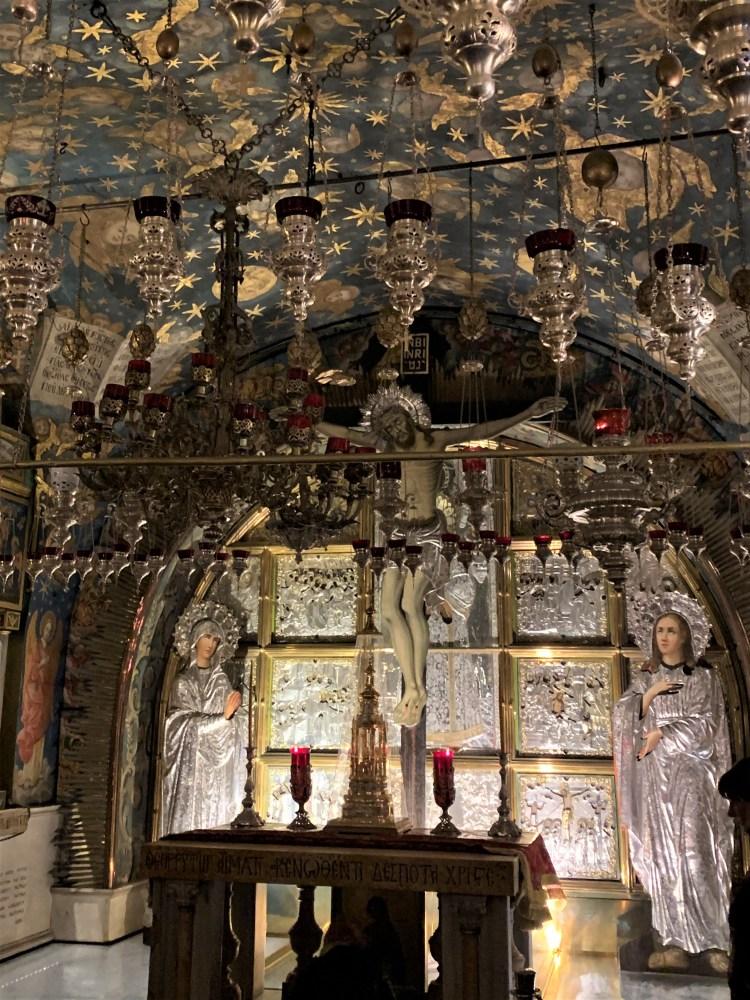 Prayer chapel in Church of the Holy Sepulchre, Jerusalem