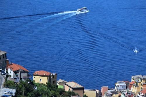 Ligurian Sea and homes of Manarola