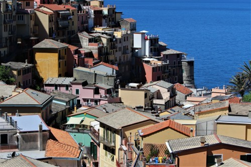 Rooftops of Manarola, Cinque Terre, Italy