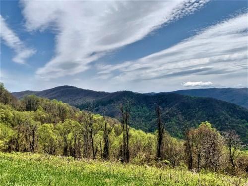 Beautiful skies, Blue Ridge Parkway, near Blowing Rock NC