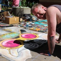 Sidewalk Magic:  Dogwood Arts Chalk Walk 2015