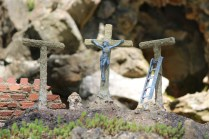 The Crucifixion on the wall of the Holy Land, Ave Maria Grotto