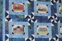 Shop Hop 2015 quilt with blue fabric