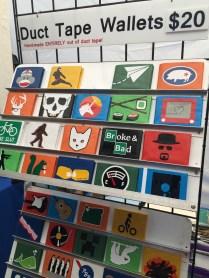 Duct tape wallets -- Portland's Saturday Market