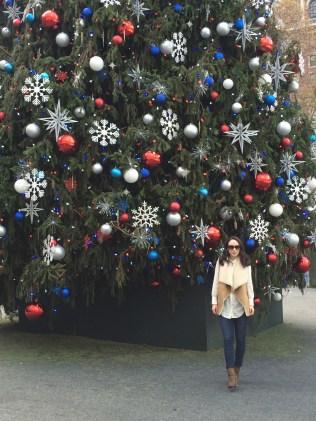 Taking turns at taking pics -- Rockefeller Center Christmas Tree 2015