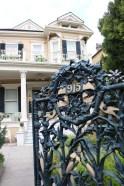Entry gate, Cornstalk Fence Hotel, New Orleans