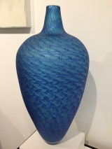 Blue Merletto Vase, John Geci (Blown Glass)