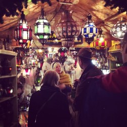 The exchange between buyers and sellers: Bath Christmas Markets