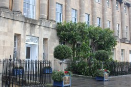 Entrance to The Royal Crescent Hotel & Spa in Bath.