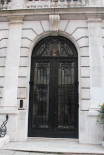 Impressive stonework around an arched doorway