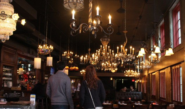 Lighting the way -- chandeliers at FIVE Knoxville