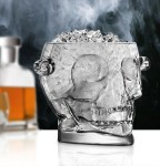 Glass Skull Ice Bucket