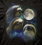 Three Sloth Moon T-shirt
