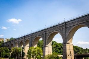 Ped bridge on old aqueduct