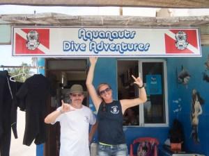 Aquanauts Dive Adventures sign