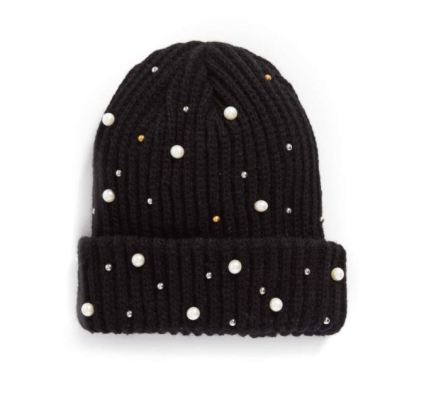 Nordstrom Pearly Stud Beanie