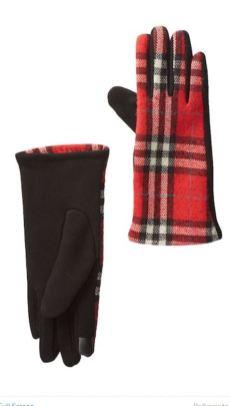 Nordstrom Rack Plaid Gloves